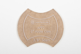 "Paper Pieces - ACRAPP200 2"" Apple Core Acrylic Fabric Cutting Template"