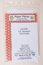 "Paper Pieces - HEX050 1/2"" Hexagon 125 Pieces"