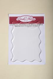 Rinske Stevens design - Acryl Blok voor clearstempel 10,5 x 15 cm