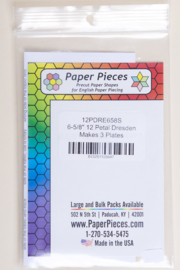 "Paper Pieces - 12PDRE658S 6-5/8"" 12 Petal Dresden Makes 3 Plates"