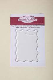 Rinske Stevens design - Acryl Blok voor clearstempel 10,5 x 7,5 cm