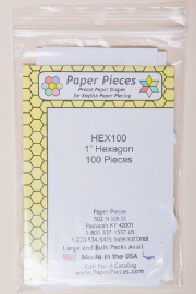 "Paper Pieces - HEX100 1"" Hexagon 100 Pieces"