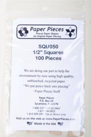 """Paper Pieces - SQU050 1/2"""" Squares 100 Pieces"""