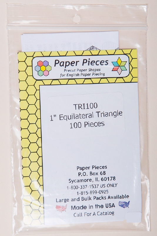 """Paper Pieces - TRI100 1"""" Equilateral Triangle 100 Pieces"""