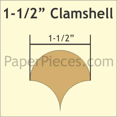 """Paper Pieces - CLAM150S 1-1/2"""" Clamshell Small Pack 135 Pieces"""