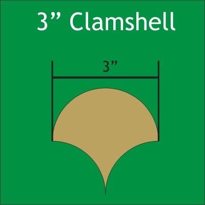 """Paper Pieces - CLAM300 3"""" Clamshell Small Pack 30 Pieces"""
