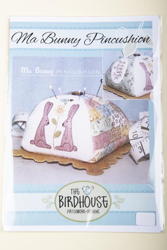 The Birdhouse Patchwork designs - Ma Bunny Pincushion