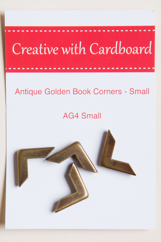 Rinske Stevens design - Antique Golden Book Corners small