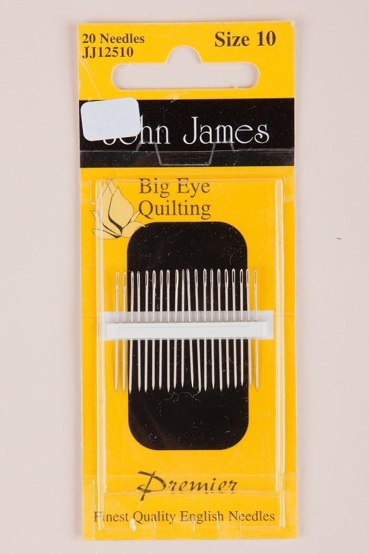 John James Big Eye Quilting. 12 naalden size 10