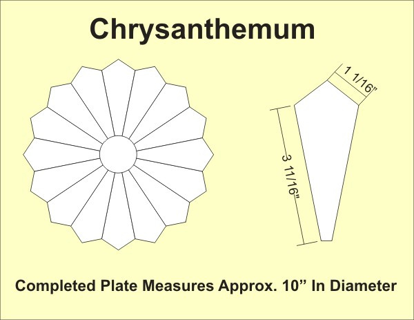 Paper Pieces - CHR12 Chrysanthemum