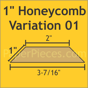 "Paper Pieces - HON100VAR01S 1"" Honeycomb Var 01 Small Pack 60 Pieces"