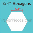 "Paper Pieces - HEX075 3/4"" Hexagon 125 Pieces"
