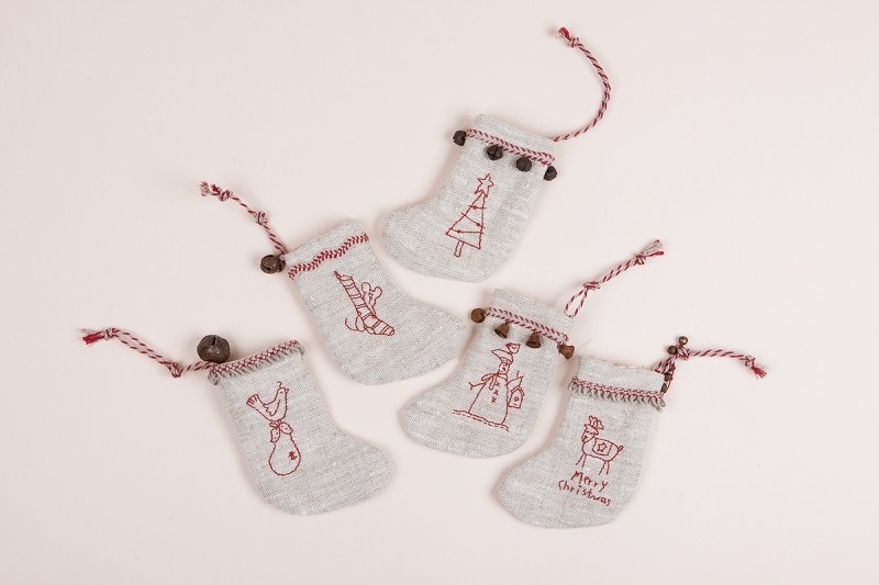 The Birdhouse Patchwork designs - Mini Merry Stockings