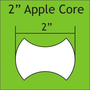 """Paper Pieces - APP200 2"""" Apple Core 50 Pieces"""