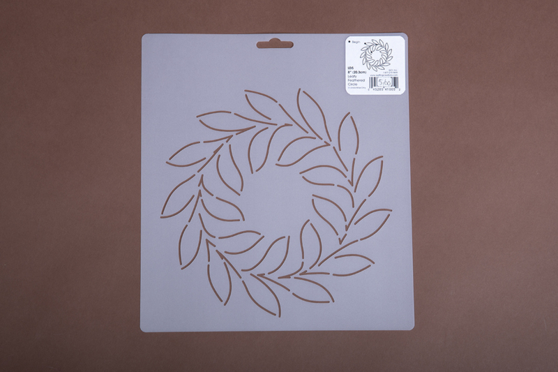 "LD5 8"" Leafy Feathered Circle"