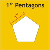"""Paper Pieces - PEN100 1"""" Pentagon 72 Pieces"""