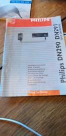 DN 290 291 gebruiksaanwijzing manual Philips  autoradio