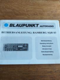 Bamberg SQR 83 betriebsanleitung / manual Blaupunkt
