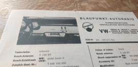 Einbauanleitung VW 1600 / 1500 Blaupunkt autoradio