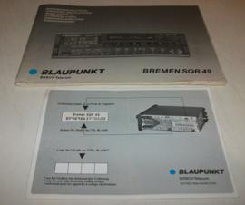 Bremen SQR 49 Manual Bedienungsanleitung für Blaupunkt Bremen SQR 49