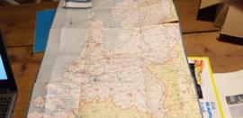 Landkaart met VW dealers Pon automobielhandel Kever