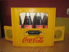 Coca-Cola krat met Blaupunkt radio collectors item