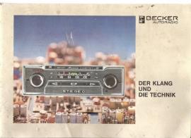 Becker Autoradio (Der klang und Technik)