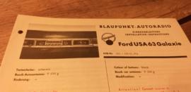 Einbauanleitung Ford Galaxie 1963 USA Blaupunkt autoradio