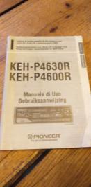 Pioneer KEH-P 4630R 4600R gebruiksaanwijzing manual betriebsanleitung