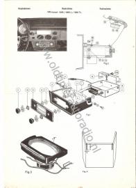 Radio inbouw VW Variant 1600 /L /TL