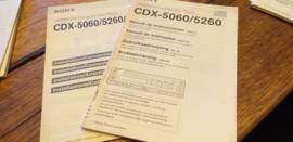 Sony CDX-5060 5260 gebruiksaanwijzing manual betriebsanleitung