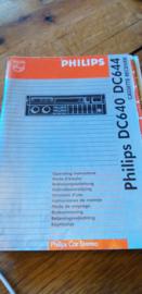 DC 640 644 gebruiksaanwijzing manual Philips  autoradio