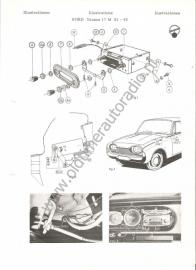 Radio inbouw Ford Taunus 17M 61-63