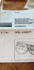 22 EN 6665 Philips inbouwvoorschrift Opel Kadett