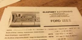 Einbauanleitung Ford 17 M / 20 M 1968 - 1970 Blaupunkt autoradio