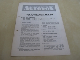 Gebruiksaanwijzing / schema Autovox RA 59