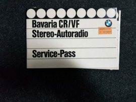BMW Autoradio Bavaria radio CR/VF Bedienungsanleitung Operating Instructions