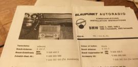 Einbauanleitung BMW 1600-2 / 2002 / 1600 ti 1969 Blaupunkt autoradio