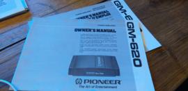 Pioneer GM-620 gebruiksaanwijzing manual betriebsanleitung