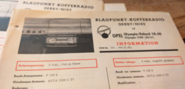 Einbauanleitung Opel Rekord Olympia 1958/1960 Blaupunkt autoradio Derby / Nixe