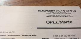 Einbauanleitung Opel Manta 1970 Blaupunkt autoradio