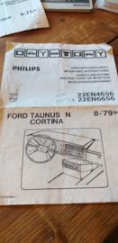 22 EN 4656 / 6656 Philips inbouwvoorschrift Ford Taunus / Cortina