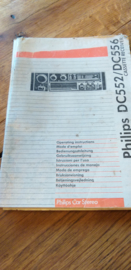DC 552 556 gebruiksaanwijzing manual Philips  autoradio