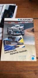 Blaupunkt  1986 poster Porsche race car 962 C