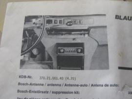 Blaupunkt radio inbouwset voor Citroën DS