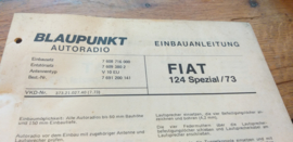 einbauanleitung / installation instructions Fiat 124 spezial 7.73