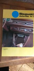 Blaupunkt 1974 autoradio + prijslijst (duits)