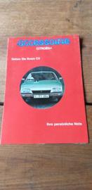 Blaupunkt 1976 Folder Citroën accessoirie CX