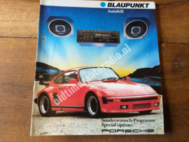 Porsche 930 turbo Prospekt Blaupunkt radio  / Brochure  / folder