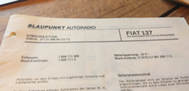 einbauanleitung / installation instructions Fiat 127 12.71